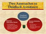 two approaches to deadlock avoidance