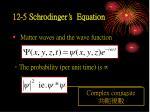 12 5 schrodinger s equation