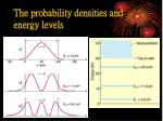 the probability densities and energy levels