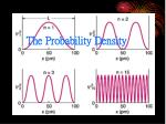 the probability density
