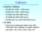 callbacks typically used for patients you attend on pays less than new or repeat consultation