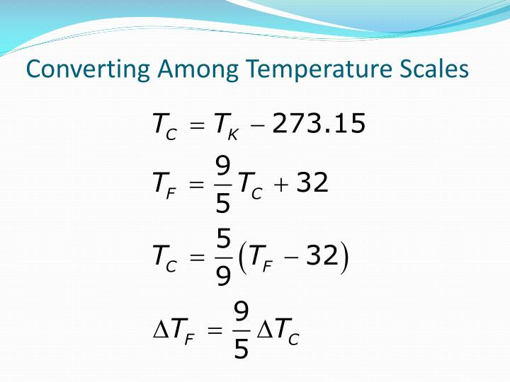 Converting Among Temperature Scales