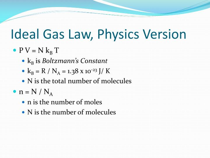 Ideal Gas Law,