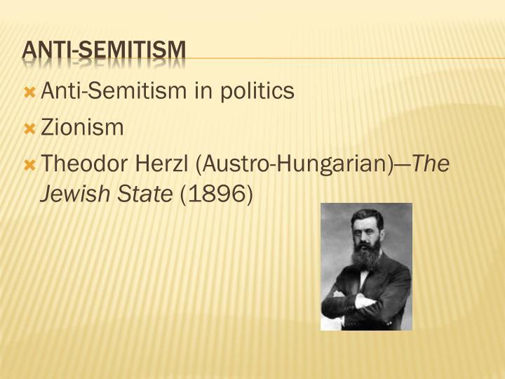 Anti-Semitism in politics