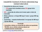 linezolid for treatment of chronic extensively drug resistant tuberculosis1