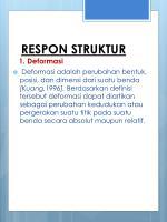 respon struktur