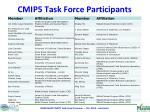 cmip5 task force participants