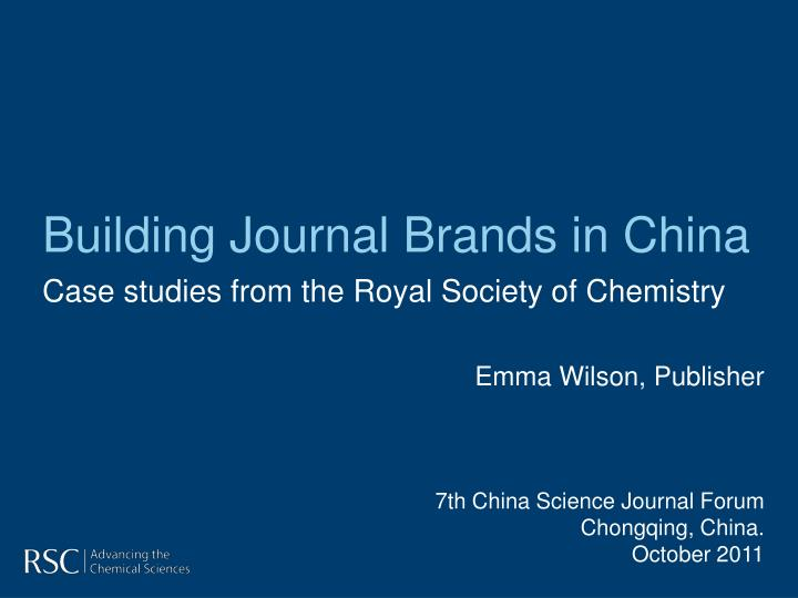 building journal brands in china n.