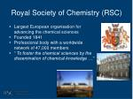 royal society of chemistry rsc