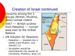 creation of israel continued1