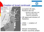 creation of israel continued2