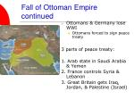 fall of ottoman empire continued