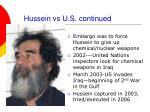 hussein vs u s continued