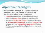 algorithmic paradigms