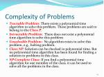 complexity of problems