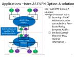applications inter as evpn option a solution