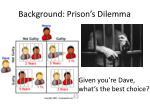 background prison s dilemma