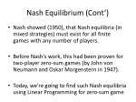 nash equilibrium cont