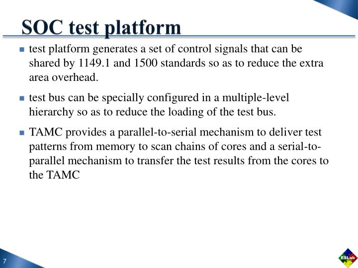 SOC test platform
