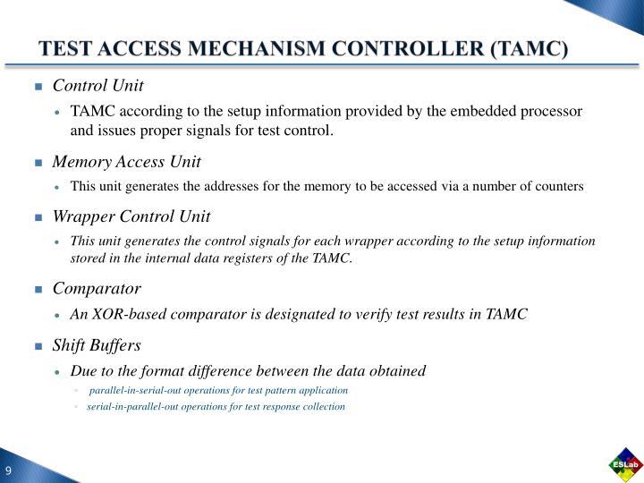TEST ACCESS MECHANISM CONTROLLER (TAMC)