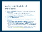 automatic update of metadata