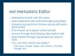 esri metadata editor