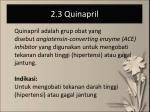 2 3 quinapril