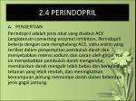2 4 perindopril