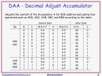daa decimal adjust accumulator