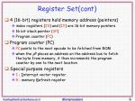 register set cont