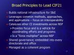 broad principles to lead cif21