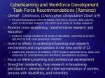 cyberlearning and workforce development task force recommendations ramirez
