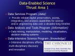data enabled science thrust area 1