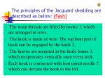 the principles of the jacquard shedding are described as below flash