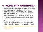 4 model with mathematics