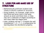 7 look for and make use of structure