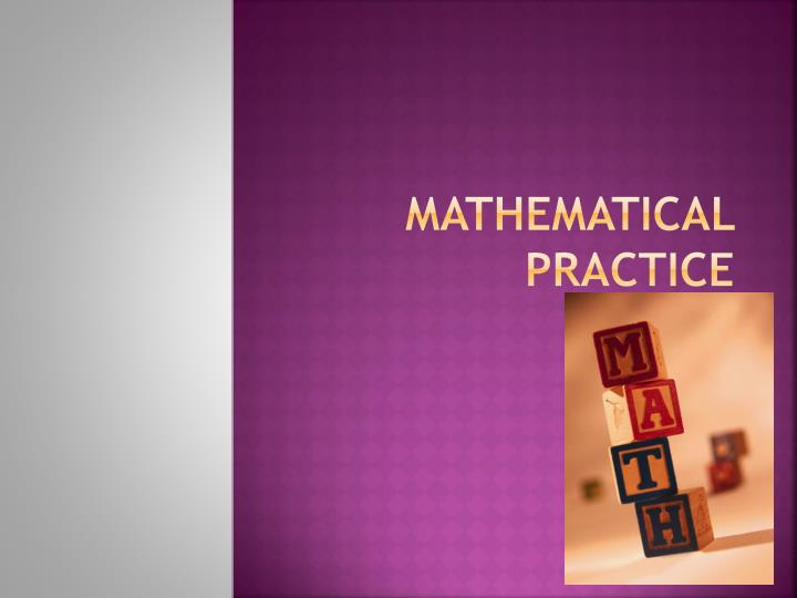 mathematical practice n.