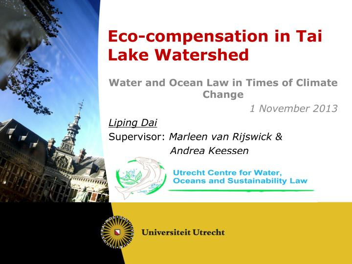 e co compensation in tai lake watershed n.