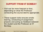 support from iit bombay