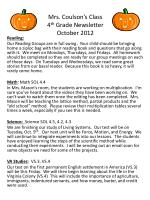 mrs coulson s class 4 th grade newsletter october 2012