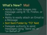 what s new mail