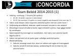 team beleid 2014 2015 1