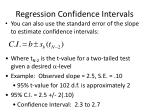 regression confidence intervals