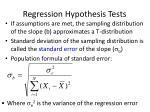 regression hypothesis tests