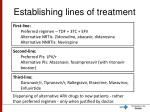 establishing lines of treatment