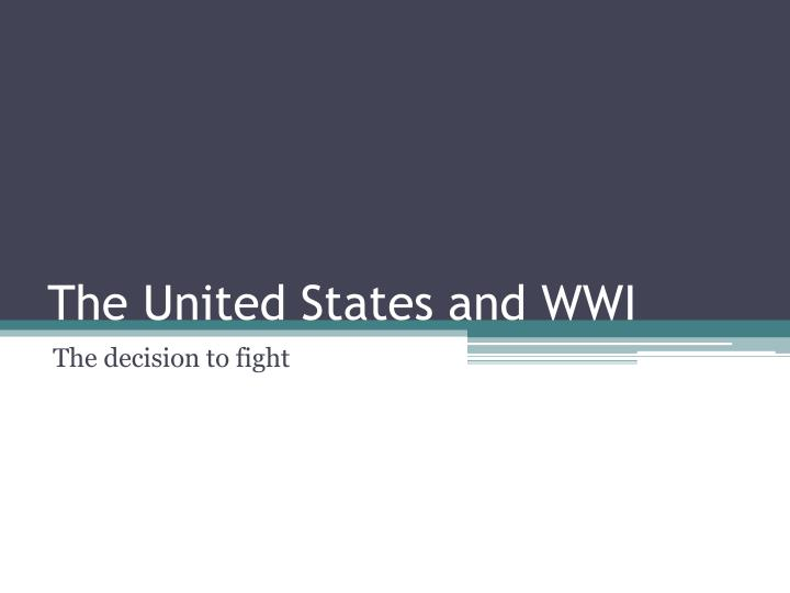 the united states and wwi n.