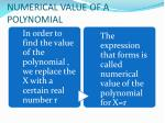 numerical value of a polynomial