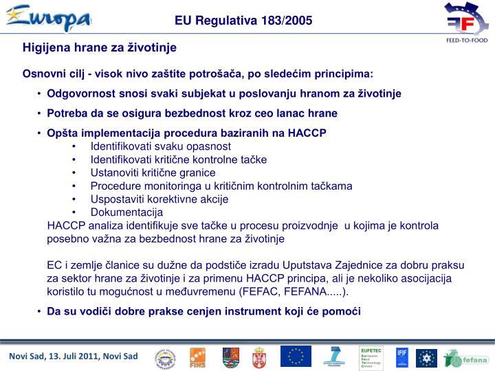 EU Regulativa 183/2005