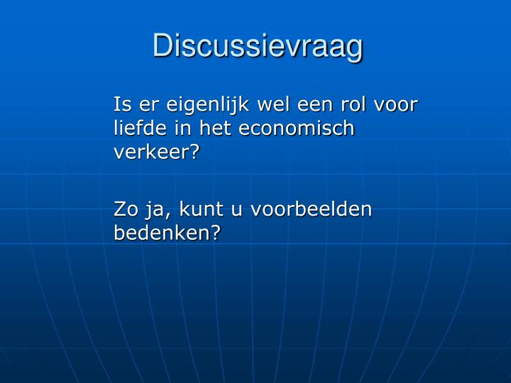 Discussievraag