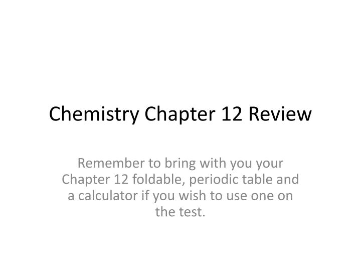chemistry chapter 12 review n.
